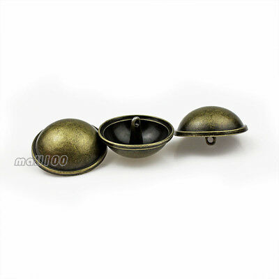 12PCS Metal Mushroom Antique Bronze Round Shank Button Sewing Embellishments