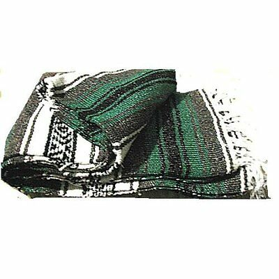 #11 Mexico Striped Car Blanket Yoga Mat Throw Cover Curtain Afghan Outdoor Green