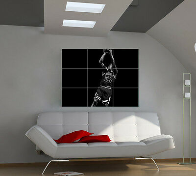 Michael Jordan large giant games poster print photo mural wall art ipx36
