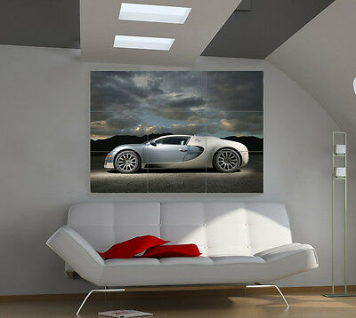 Bugatti coupe large giant cars poster print photo mural wall art ib543