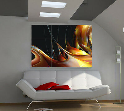 Caramel large giant 3d poster print photo mural wall art ia023