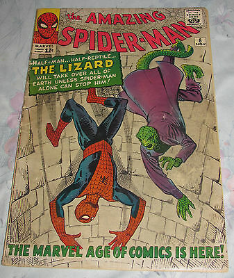 1963 Amazing Spiderman #6 1st app of The Lizard VG (4.0)