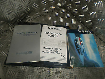 1997 Saab 9000 Owners Manual Handbook With Leather Wallet