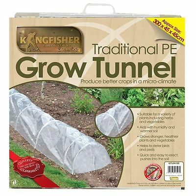 3m Long Grow Tunnel Polythene Frost Protection Mini Greenhouse Plants GTUN100