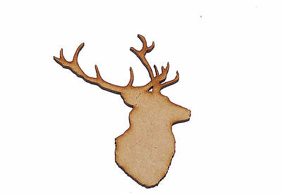 Pack of 10 50mm High MDF Green Man Stags head for embellishing your project #06