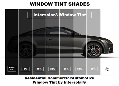"""2 Ply Window Tint Black Residential Commercial Automotive 48"""" Inches Wide"""