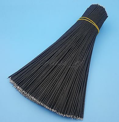 500Pcs Black 22AWG 1007 Double End Tinned 20cm Solder Jumper Wire Connector