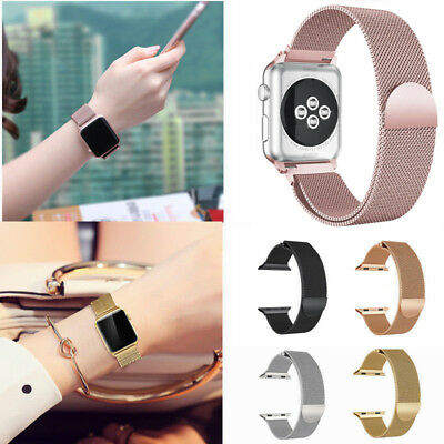 42/38/44/40mm Milanese Magnetic Stainless Strap Loop Watch Band For Apple Watch