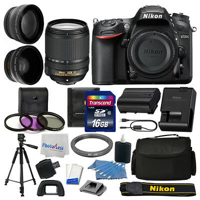 Nikon D7200 Digital SLR Camera 3 lens: 18-140mm VR + 16GB + More Great Value Kit