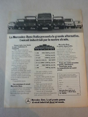 ADVERTISING PUBBLICITA' MERCEDES-BENZ i veicoli industriali diesel  --1976