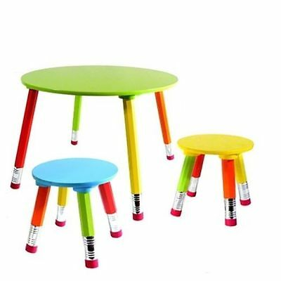 Kids Furniture Table and two Chairs Set (Crayons)