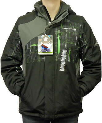 Free Country Boy's FCXtreme Multi-Ripstop Jacket Black/Pop Green