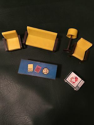 Vintage Mego Love Boat Playset Furniture Chair Love Seat Table Lamp TV Grandtoys