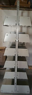 Complete Double Sided Metal Shelving Disassembled, Heavy duty, Warehouse Grade