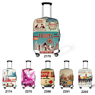 "18""-30"" Travel Trolley Suitcase Protection Luggage Cover Elastic Dust-proof New"