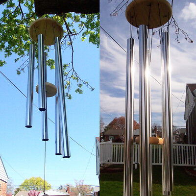 Amazing Deep Relaxing 5 Tubes Windchime Chapel Bells Wind Chimes Decor 90cm