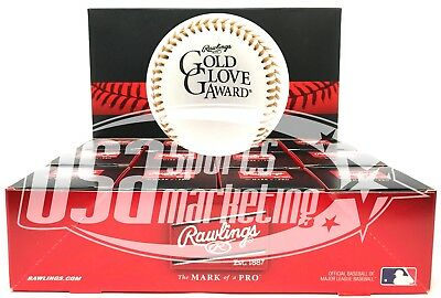 (12) Rawlings Official MLB Gold Glove Commemorative Baseball - Dozen