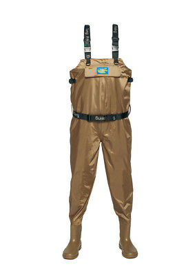 Breathable Fly Fishing Waders, Crosswater Chest Waders, Waders with Boot UK 10