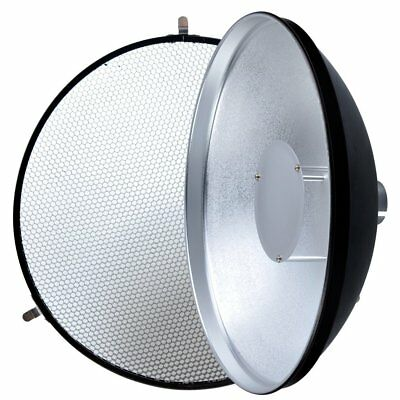30.5cm Beauty Dish with Honeycomb Grid for HyBRID360 Bare Bulb Flash