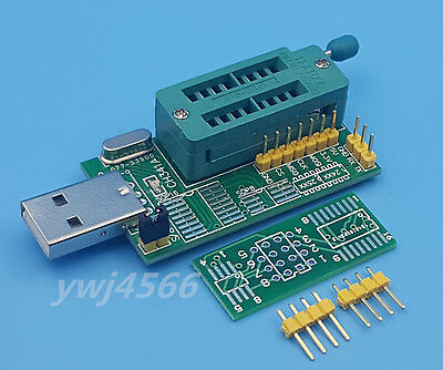 CH341A Series 24 EEPROM BIOS Writer 25 SPI routing LCD Flash USB Programmer