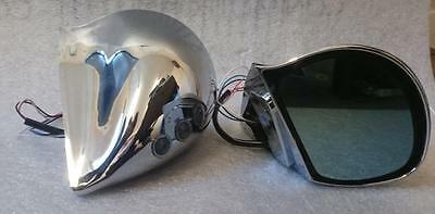 Chrome DTM 3 Wire Electric Car Door Mirrors with LED Indicator - 1 Pair