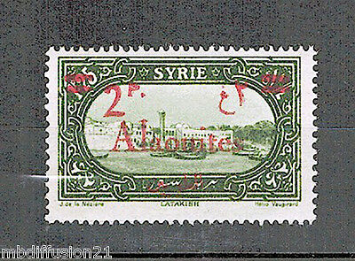 1928//syrie-Alaouites//timbre Neuf** 2Pi. Sur 1,25Pi.//surchage.rouge/y/t.n°42