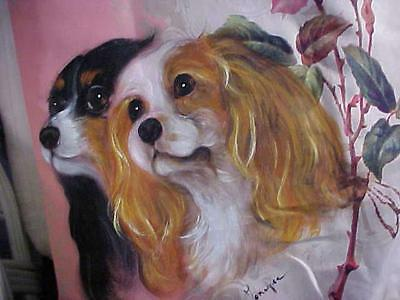 Cavalier King Charles Hand Painted Pillow Just Fantastic!