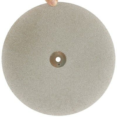 "12"" inch Grit 100 Coarse Diamond Coated Flat Lap Disk Grinding Wheel Gemstone"