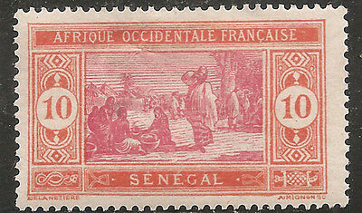 "Senegal Stamp - Scott#84/A28 10c Orange Red & Rose ""Prepare Food"" OG Mint/H 1914"