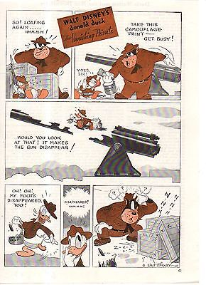1943 Disney - Donald Duck as the Vanishing Private from Good Housekeeping