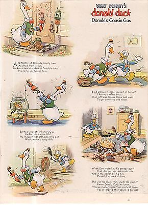 1938 Disney - Donald Duck's Cousin Gus from Good Housekeeping