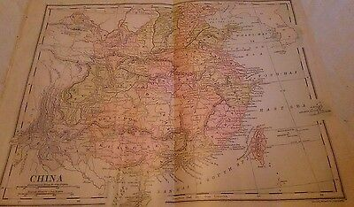 """* Antique Map of China * 1892 * 8.5"""" x 11"""" * Struthers *"""