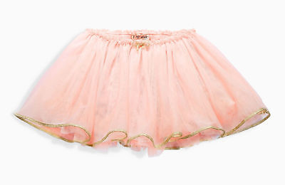 BNWT Girls NEXT Pink Tutu Skirt with Sparkly Gold Trim BEAUTIFUL 3-4-5-6 yrs