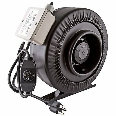 """Apollo Horticulture 4"""" 6"""" 8"""" Inch Inline Duct Fan w/ Built-In Speed Controller"""