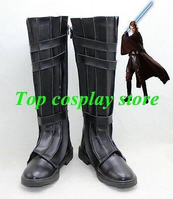 Star Wars 7 The Force Awakens Anakin Skywalker Darth Vader Cosplay Boots Shoes
