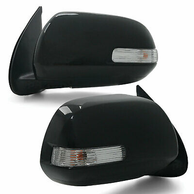 Toyota HILUX 2011-2014 PAIR Side Replacement BLACK Mirror Blinker & Cover NEW
