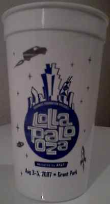Lollapalooza 2007 Grant Park Chicago Collector Cup Iggy Amy Winehouse Pearl Jam
