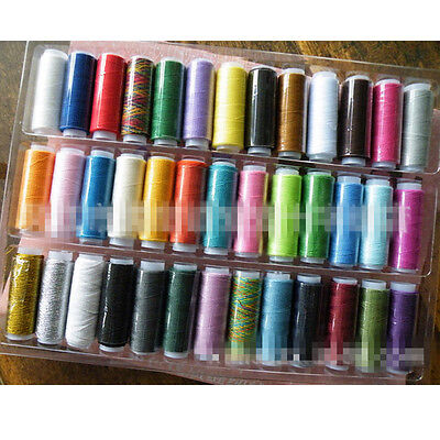 39 Colors 200M Spools Cotton Blends Sewing Machine Thread Reel Cord String sx