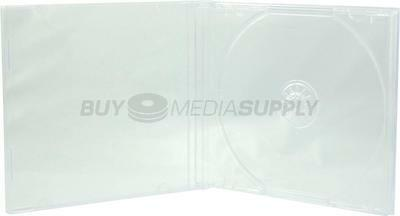 10.4mm Standard Clear 1 Disc CD Jewel Case - 400 Pack