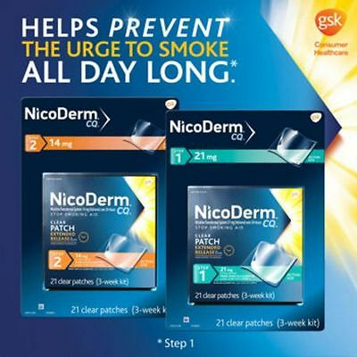 NicoDerm CQ Clear Patches 14 mg step 2, box of 21 patch