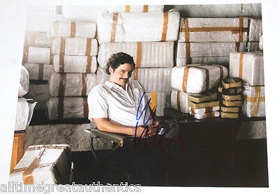 Wagner Moura Signed Narcos Tv Show 11X14 Photo W/Coa Proof Pablo Escobar Netflix