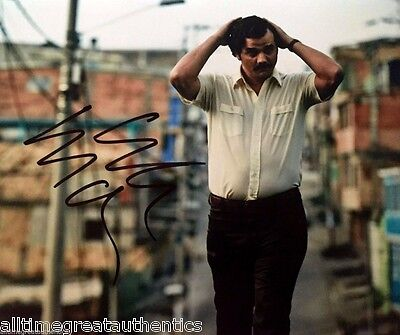 Wagner Moura Signed Narcos Tv Show 8X10 Photo W/Coa Proof Pablo Escobar Netflix
