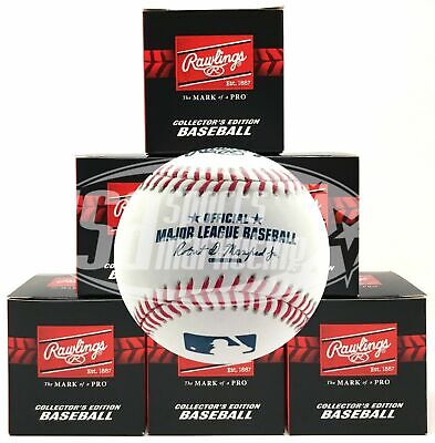 (6) Rawlings Official Major League Game Baseball Manfred ROMLB Boxed - 1/2 Dozen