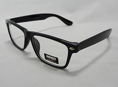 Nerd Eyewear Clear Lens Glasses BLACK & Green Unisex Mens Womens Trendy New