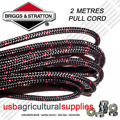 Genuine Briggs 3.2Mm X 2 Mtr Metres Pull Starter Cord Rope 790965 Engine