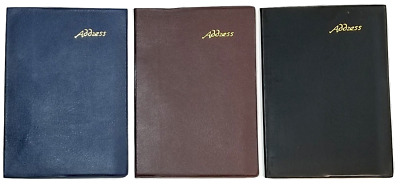 """Address /Telephone Book  with  Tabbed Pages -- 5"""" X 7"""" Colors may vary"""
