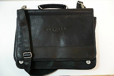 James Bond 007 Rare Skyfall Piel Leather Carry/Shoulder Bag, Official NEW