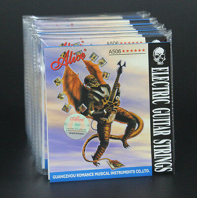 10 Sets A506-L Light (.010-.046) inch Steel Nickel Alloy Electric Guitar Strings