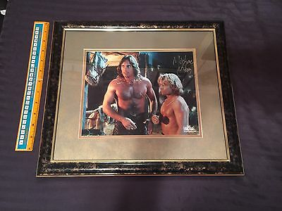 Hercules Xena Framed Autographed Photo Kevin Sorbo Michael Hurst Creation
