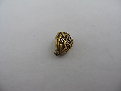 Incredible Design Vintage Art Deco 1936 HS High School Pin Award WHS